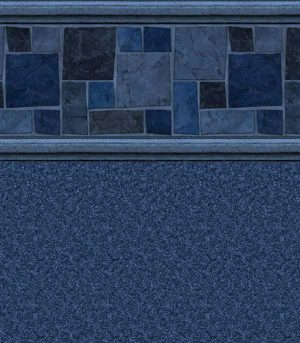 Courtstone Blue / Natural Blue <br>27 mil <br>tile height 11""