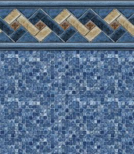 Pool Liner - Mountain Top / Blue Mosaic