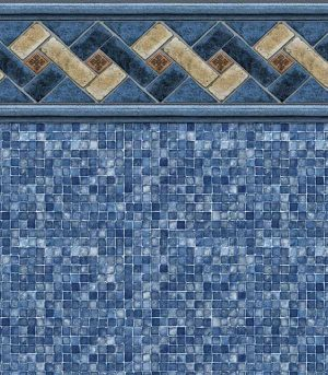 Mountain Top / Blue Mosaic <br>20 or 27 mil <br>tile height 8 7/8""