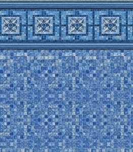 Pool Liner - Vintage Mosaic / Blue Mosaic