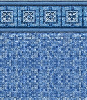 Vintage Mosaic / Blue Mosaic <br>27 mil <br>tile height 9""