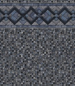 Pool Liner - Cobalt Lake / Gray Mosaic