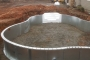 Steel Walls and Walk-in Pool Steps Installed